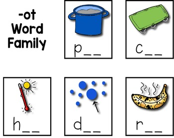Short O CVC Word Sort --- Word Family Sorting Mats and Pocket Chart