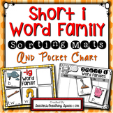 Short I CVC Word Sort --- Word Family Sorting Mats and Pocket Chart