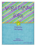 Word Family Sorting Mats -et and -en