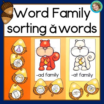 Fall Word Family Sorting: Short a Words
