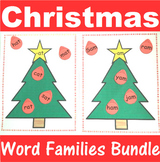 Word Family Sorting with Christmas Trees Bundle