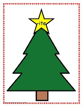 Word Family Sorting with Christmas Trees Long I