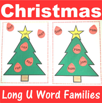 Word Family Sorting with Christmas Trees Long U
