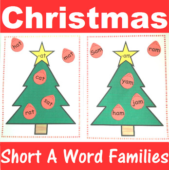 Word Family Sorting with Christmas Trees Short A