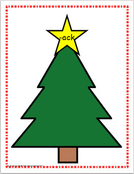Word Family Sorting with Christmas Trees Short A Bundle
