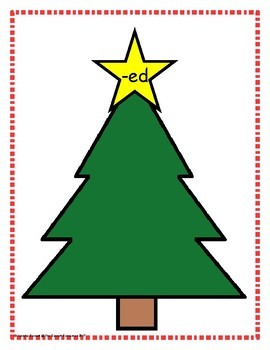 Word Family Sorting with Christmas Trees Short E