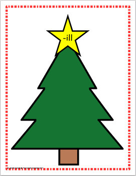 Word Family Sorting with Christmas Trees Short Vowels Bundle