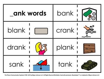 Word Family Sorts - Alternate Vowels (Set 1)
