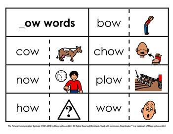Word Family Sorts - Alternate Vowels (Set 4)