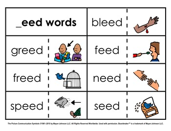 Word Family Sorts - Long Vowels (Set 2)