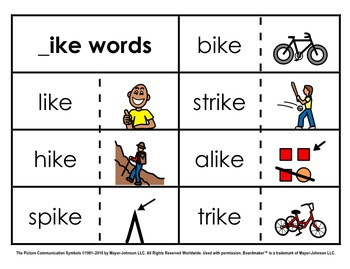 Word Family Sorts - Long Vowels (Set 3)