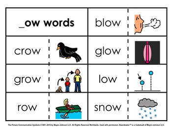 Word Family Sorts - Long Vowels (Set 4)