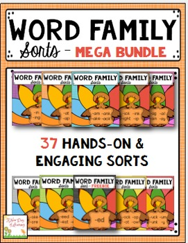 Word Family Sorts - MEGA BUNDLE - 37 Sorts Total