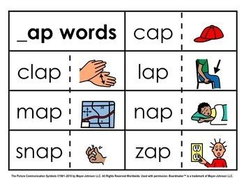 Word Family Sorts - Short Vowels (Set 1: Short A)