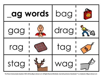 Word Family Sorts - Short Vowels (Set 1: Short A)