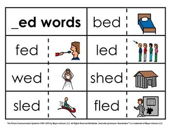 Word Family Sorts - Short Vowels (Set 2: Short E)