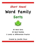 Word Family Sorts- Short Vowels
