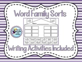 Cut and Glue Word Families with Writing Practice