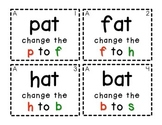 Word Family Task Cards [Changing Beginning Sounds & Writing Words]