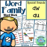 Word Family Special Sounds AW AU WORD WORK INTERACTIVE PRINTABLES ASSESSM