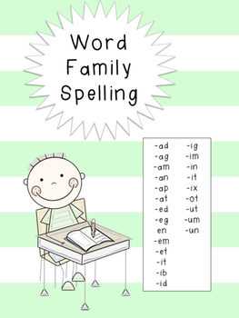 Word Family Spelling