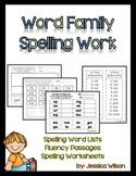Word Family Spelling Work