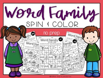 Word Family Spin & Color