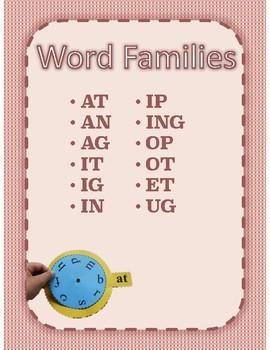 Word Family Spinner