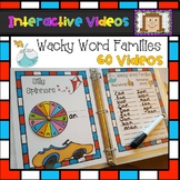 Word Family Spinners - Interactive Videos