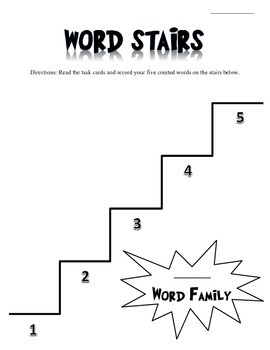 Word Family Stairs