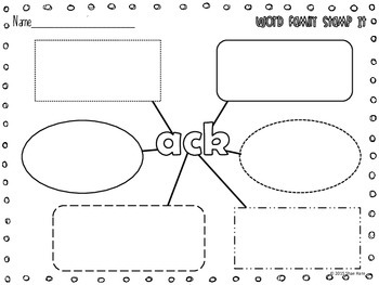 Word Family {Stamp It} Word Work [Reading] Station Center Printable