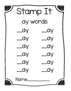 Word Family Stamping