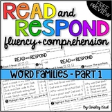 Reading Passages for Fluency/Comprehension - PREVIEW of Word Families Pt. 1