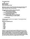 Word Family Story, Comprehension Questions, and Word Study (Spelling)
