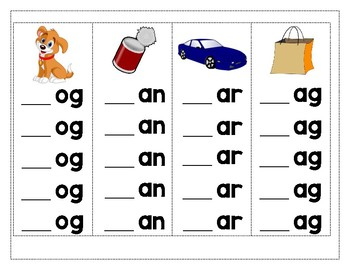 Word Family Strips