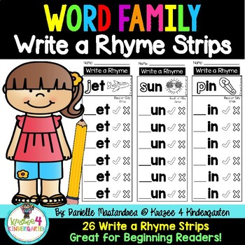 Word Family Strips- Write a Rhyme