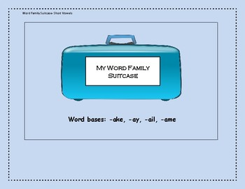Word Family Suitcase Set 2 Mixed Vowels