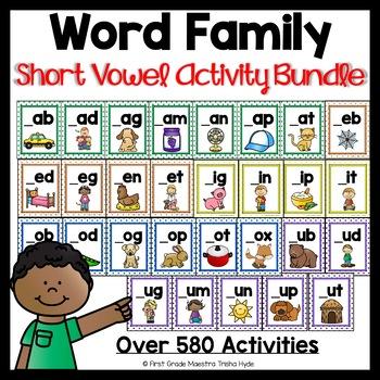 Word Family Activity Bundle