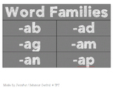 Word Family Tags