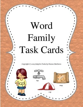 Word Family Task Cards