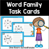 Word Family Task Cards For Centers Set 1