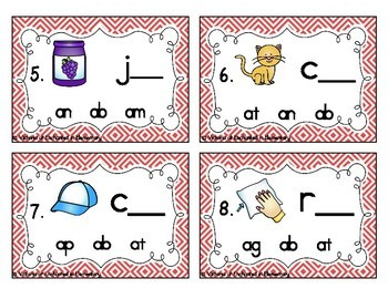Word Family Task Cards: Short A CVC Set