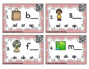 Word Family Task Cards: Short A CVC Set