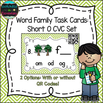 Word Family Task Cards: Short O CVC Set