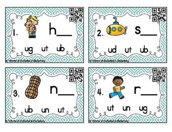 Word Family Task Cards: Short U CVC Set