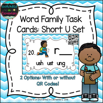 Word Family Task Cards: Short U Set