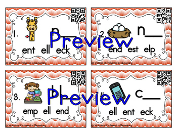 Word Family Task Cards: Short Vowel Bundle