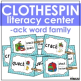 Word Family Task Cards: -ack