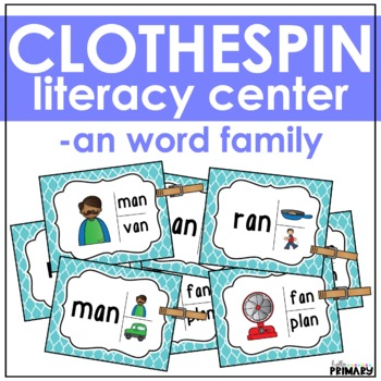 Word Family Task Cards: -an