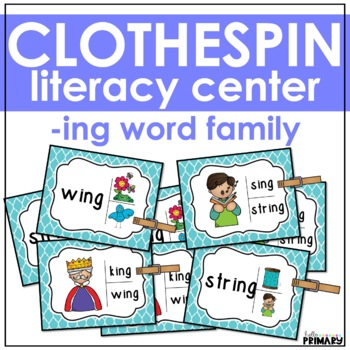 Word Family Task Cards: -ing